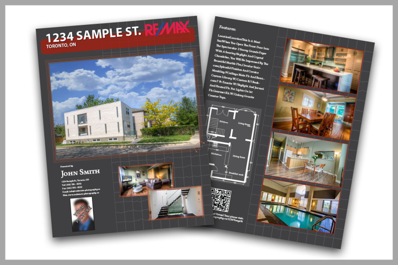 Real Estate Feature Sheet Sample